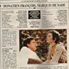 Josephine Chaplin and Bruno Cremer at an event for Donatien-François, marquis de Sade (1985)