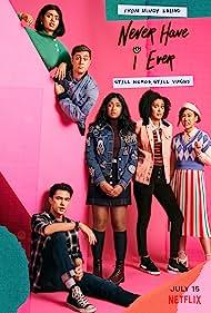 Maitreyi Ramakrishnan, Jaren Lewison, Megan Suri, Ramona Young, Darren Barnet, and Lee Rodriguez in Never Have I Ever (2020)
