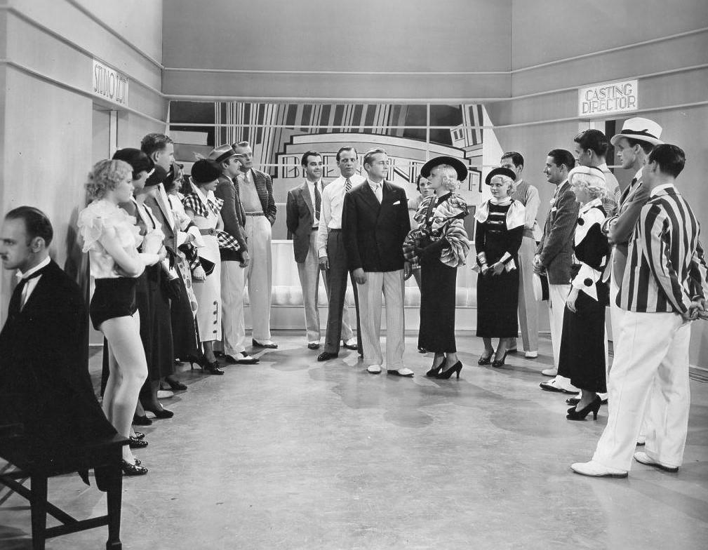 James Dunn, Lynn Bari, Betty Bryson, Alice Faye, Harry Fox, Lois Lindsay, Jean Fursa, and Betty Stockton in 365 Nights in Hollywood (1934)