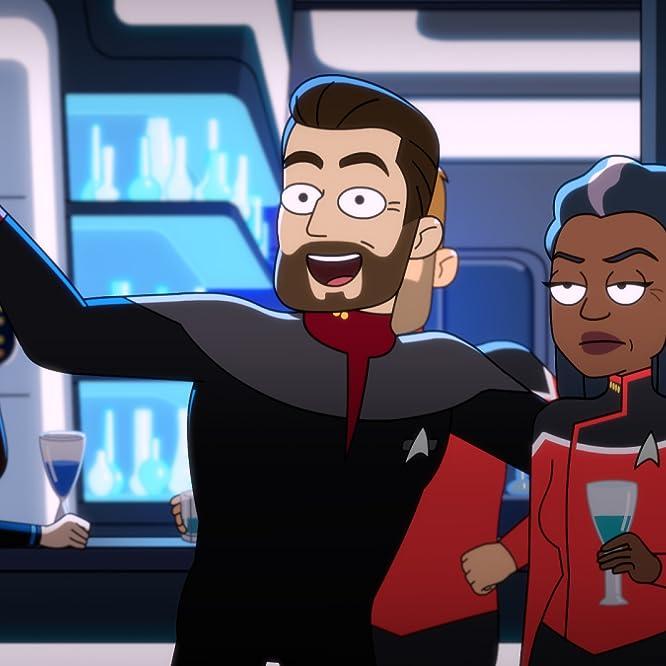Jonathan Frakes and Marina Sirtis in Star Trek: Lower Decks (2020)