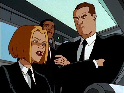 Jennifer Lien, Gregg Berger, and Keith Diamond in Men in Black: The Series (1997)