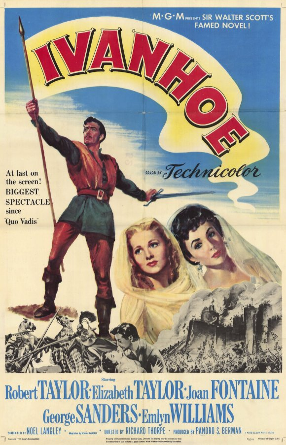 Joan Fontaine, Elizabeth Taylor, and Robert Taylor in Ivanhoe (1952)