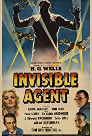Peter Lorre, Jon Hall, Cedric Hardwicke, and Ilona Massey in Invisible Agent (1942)