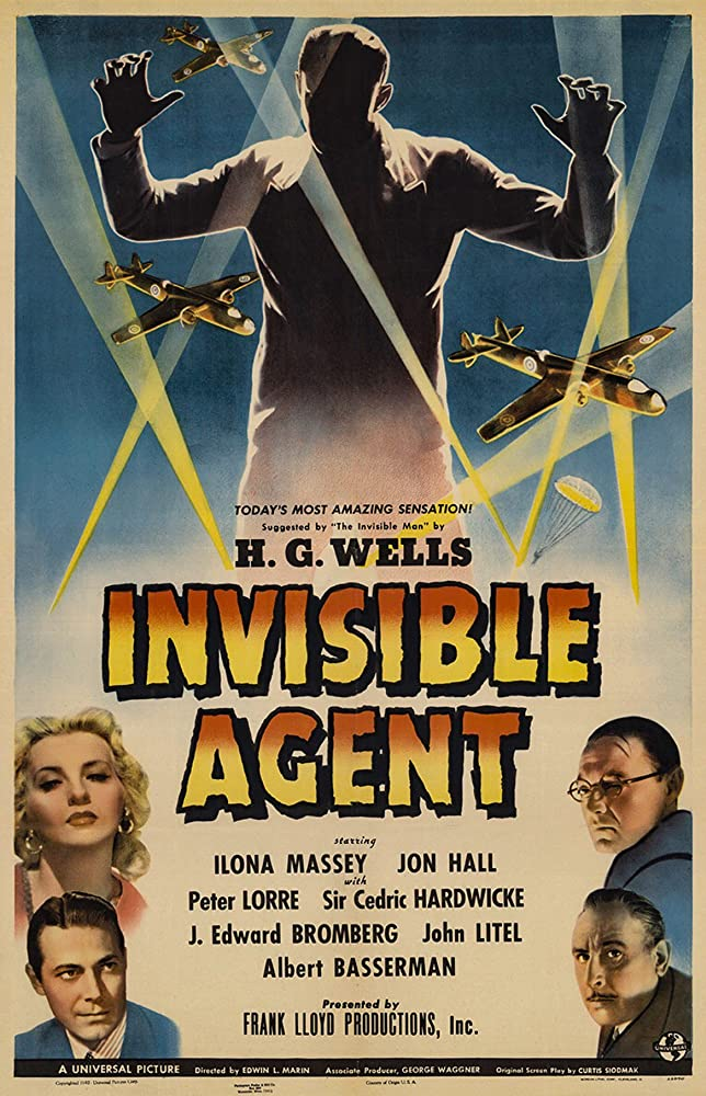 Peter Lorre, Jon Hall, Cedric Hardwicke, and Ilona Massey in Invisible Agent (1942)
