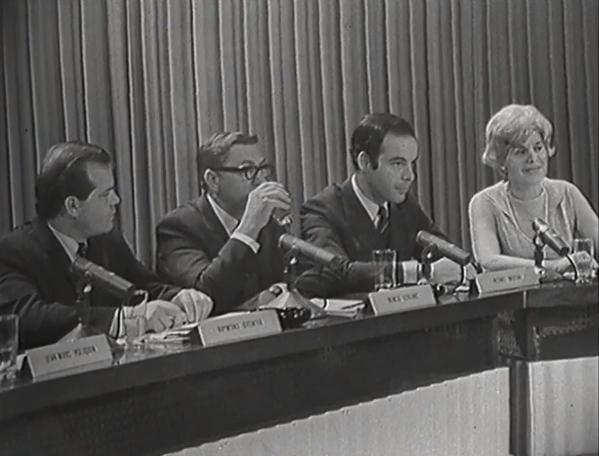 Romeo Leblanc, Pierre Nadeau, Raymond Grenier, and Judith Jasmin in Caméra 67 (1967)