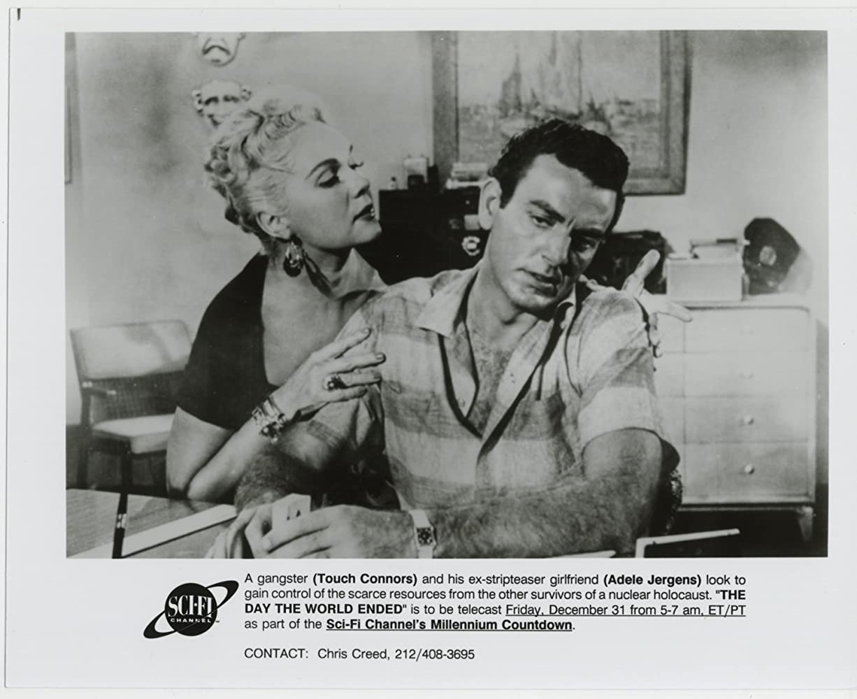 Mike Connors and Adele Jergens in Day the World Ended (1955)