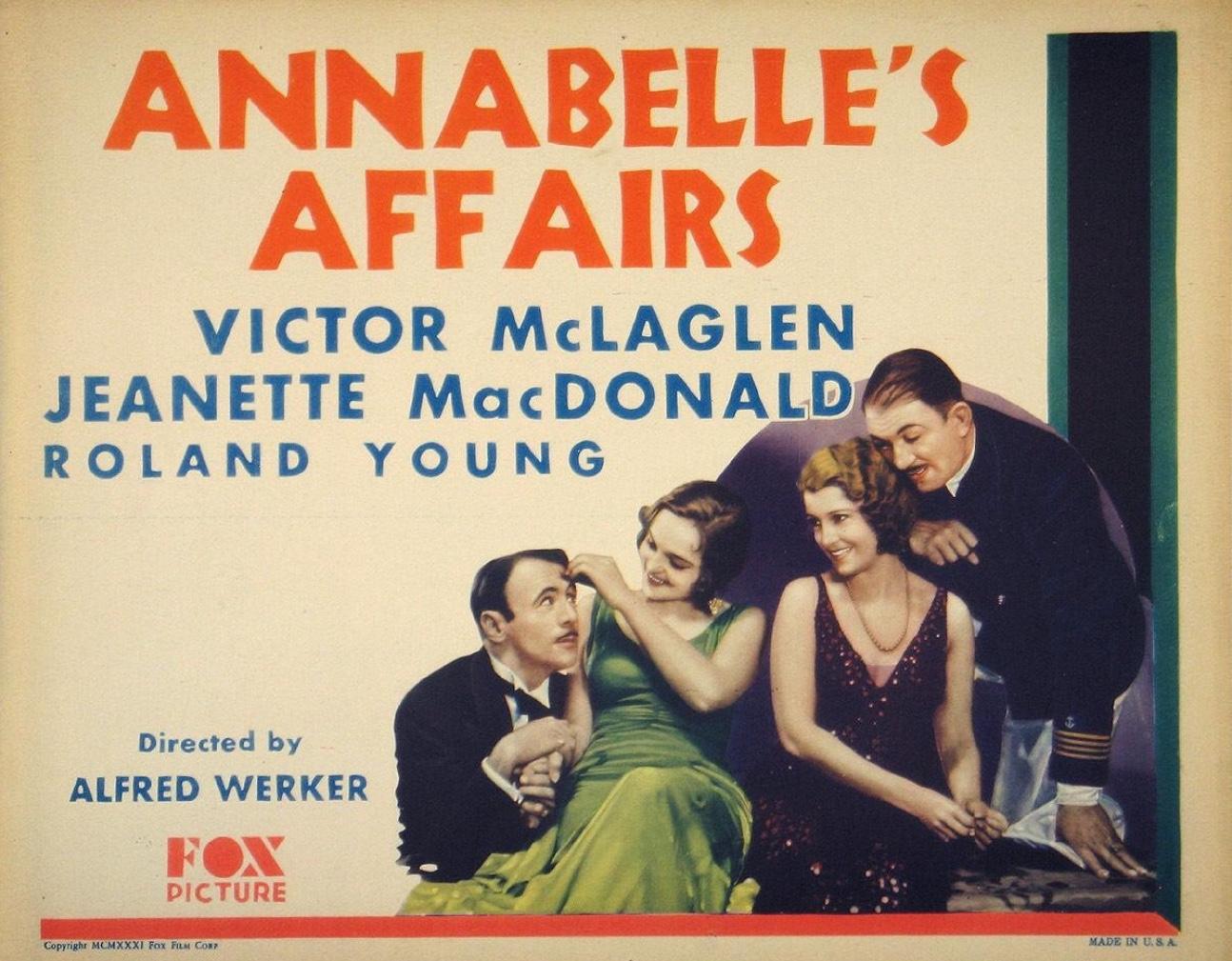 Annabelle's Affairs (1931) - IMDb