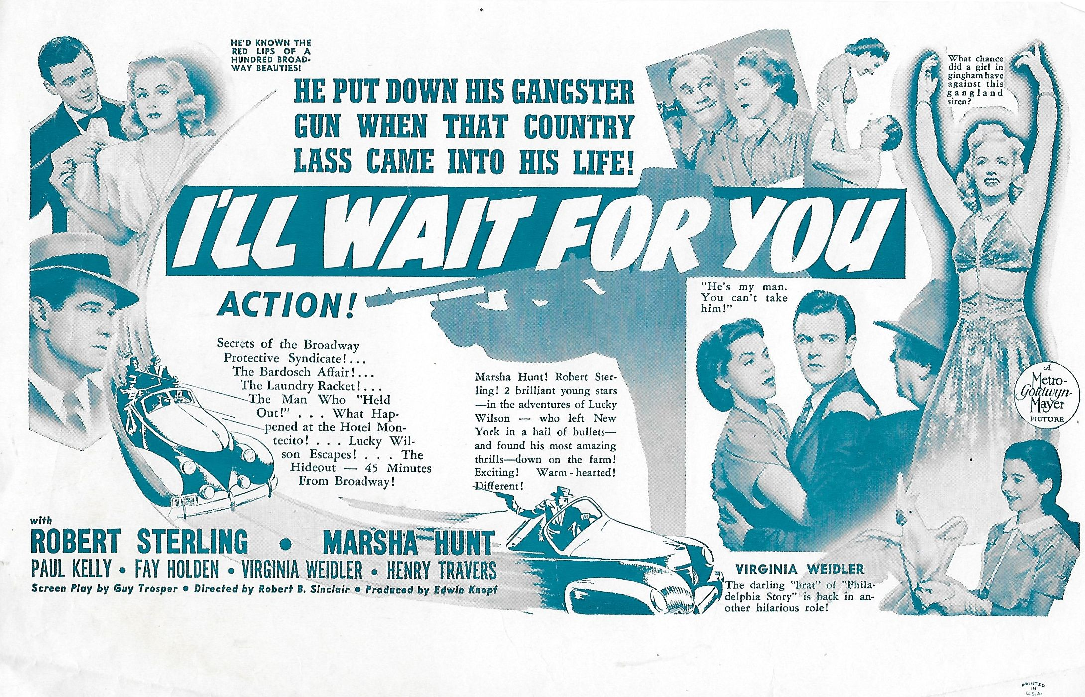 Fay Holden, Carol Hughes, Marsha Hunt, Paul Kelly, Robert Sterling, Henry Travers, and Virginia Weidler in I'll Wait for You (1941)