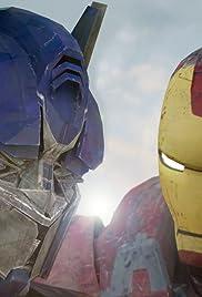 Ironman vs Optimus Prime Poster