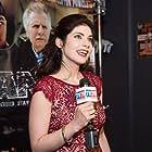 KateLynn Newberry getting interviewed at the Banger red carpet premier
