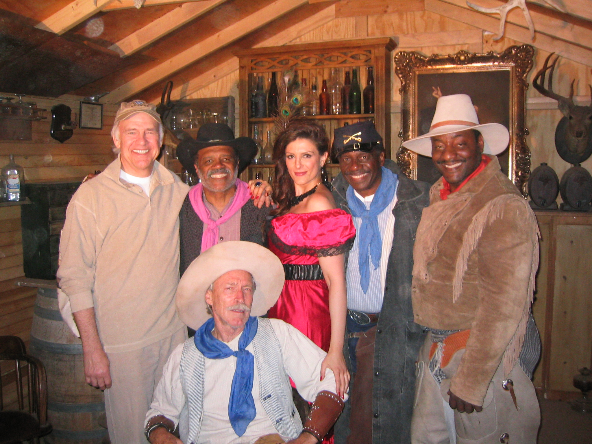 Patrick Gorman, Christine Kludjian, Ted Lange, Harrison Page, and Robert Pine in Players at the Poker Palace (2008)