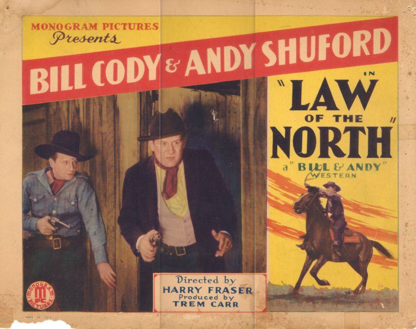 Bill Cody and William L. Thorne in Law of the North (1932)