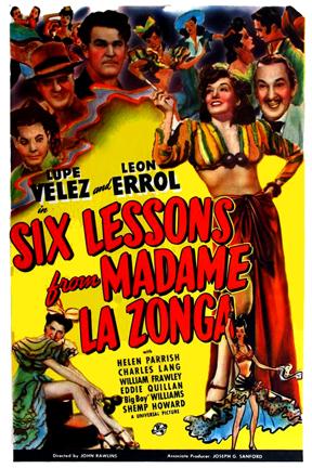Leon Errol, William Frawley, Eddie Quillan, Lupe Velez, and Guinn 'Big Boy' Williams in Six Lessons from Madame La Zonga (1941)