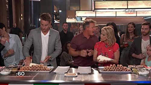 The F Word: Justin Hartley & Cheryl Hines Compete In A Cannoli Filling Contest