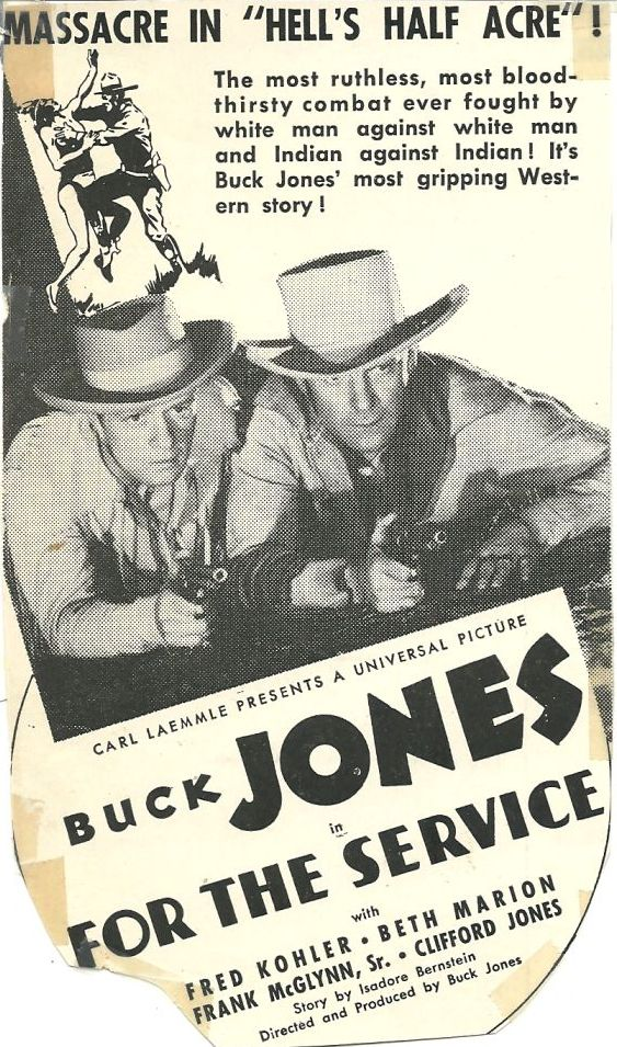 Buck Jones and Phillip Trent in For the Service (1936)