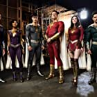 Adam Brody, Meagan Good, Zachary Levi, D.J. Cotrona, Grace Fulton, and Ross Butler in Shazam! Fury of the Gods (2023)