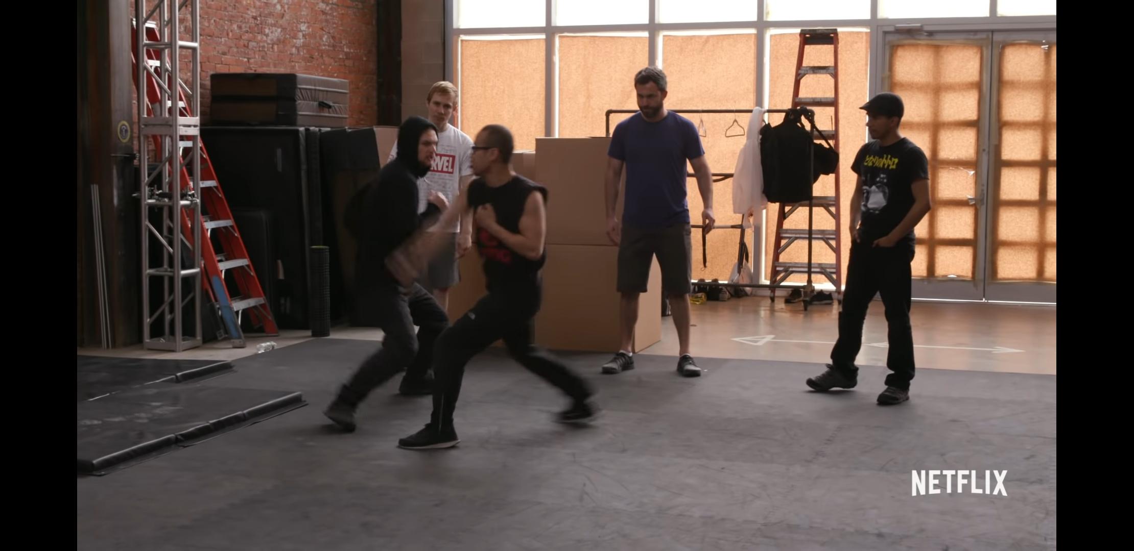 Malay Kim, Airon Armstrong, Emmanuel Manzanares, Finn Jones, and David Armstrong in Iron Fist (2017)