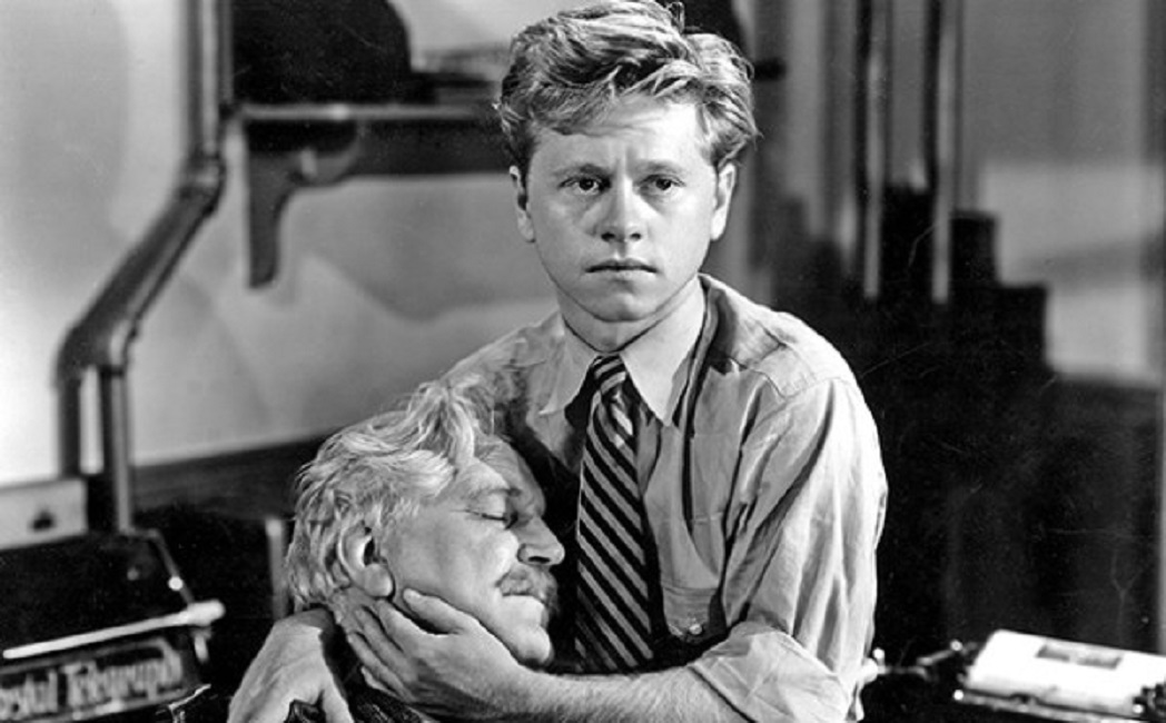 Mickey Rooney and Frank Morgan in The Human Comedy (1943)