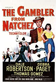 Debra Paget and Dale Robertson in The Gambler from Natchez (1954)