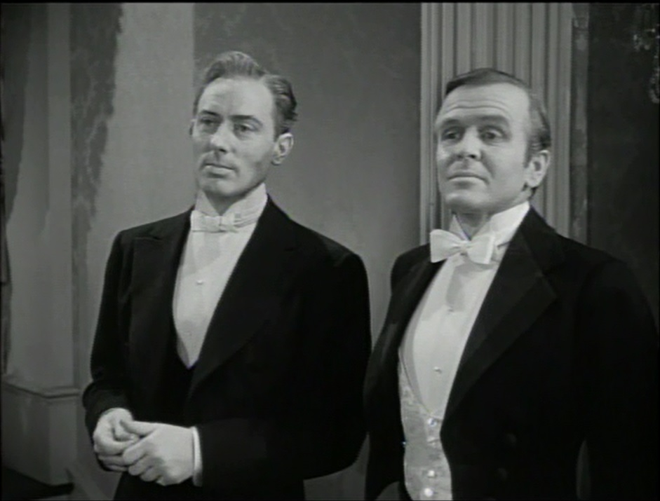 Hayden Rorke and Michael Wilding in The Law and the Lady (1951)