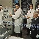 Fuyuki Murakami, Someshô Matsumoto, Takamaru Sasaki, Keiko Sawai, Gen Shimizu, Toki Shiozawa, Yoshifumi Tajima, Akira Takarada, and Jun Tazaki in Kaijû daisensô (1965)