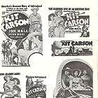 Dana Andrews, Lynn Bari, Jon Hall, and Renie Riano in Kit Carson (1940)