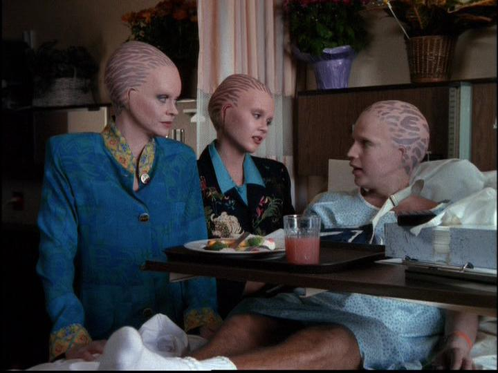 Michele Scarabelli, Sean Six, and Lauren Woodland in Alien Nation: The Udara Legacy (1997)