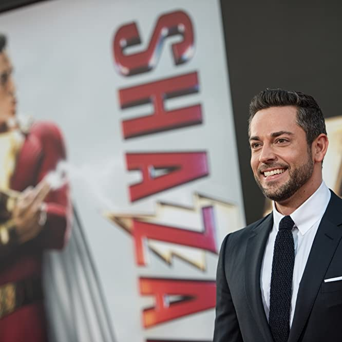 Zachary Levi at an event for Shazam! (2019)