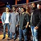 Mohammad Irfan, Prakash Prabhakar, Sunil Sanjan, and Tanveer Ghazi at an event for Flat 211 (2017)