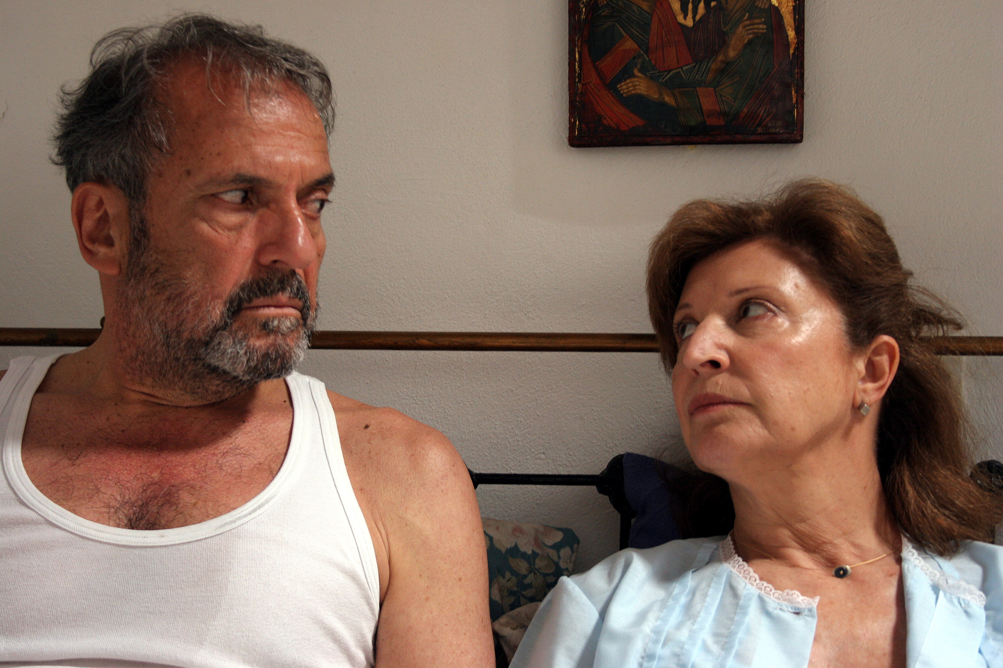 Minas Hatzisavvas and Sofia Seirli in Amyna zonis (2007)