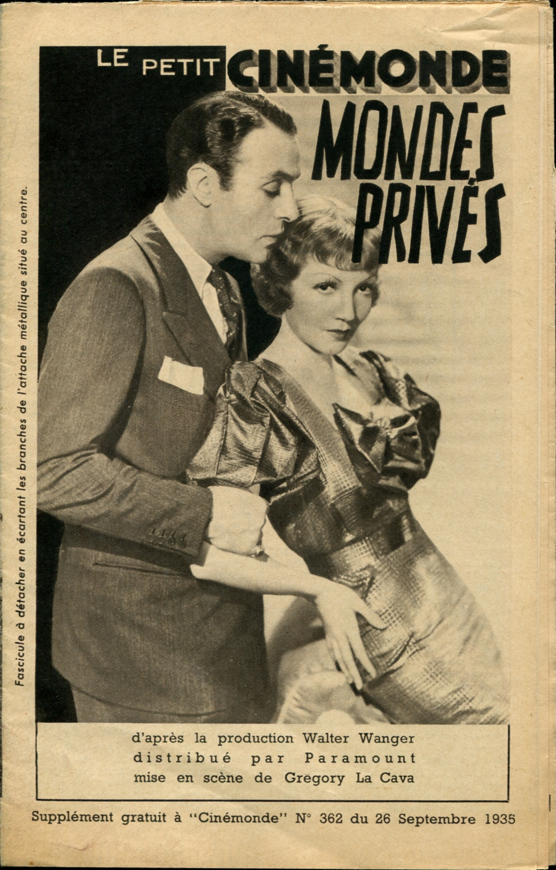 Charles Boyer and Claudette Colbert in Private Worlds (1935)