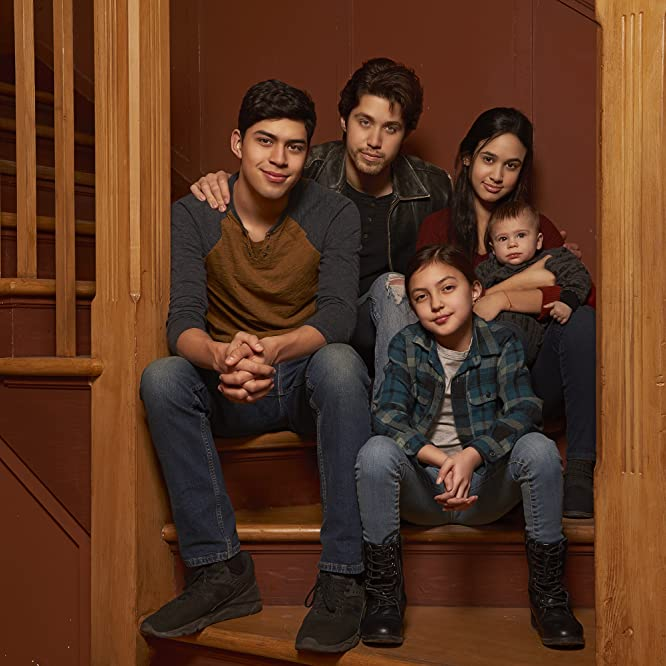 Brandon Larracuente, Niko Guardado, Emily Tosta, and Elle Paris Legaspi in Party of Five (2020)