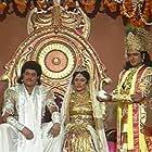 Nitish Bharadwaj, Roopa Ganguly, and Gajendra Chauhan in Mahabharat (1988)