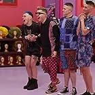 Kita Mean, Art Simone, Scarlet Adams, and Richard Chadwick in RuPaul's Drag Race Down Under (2021)