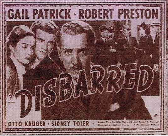 Otto Kruger, Gail Patrick, and Robert Preston in Disbarred (1939)
