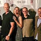 Henry Ian Cusick, Matt Riedy, Scott Schill, Stewart Schill, Alan Pruzan, and Heather Natoli at an event for Frank vs. God (2014)