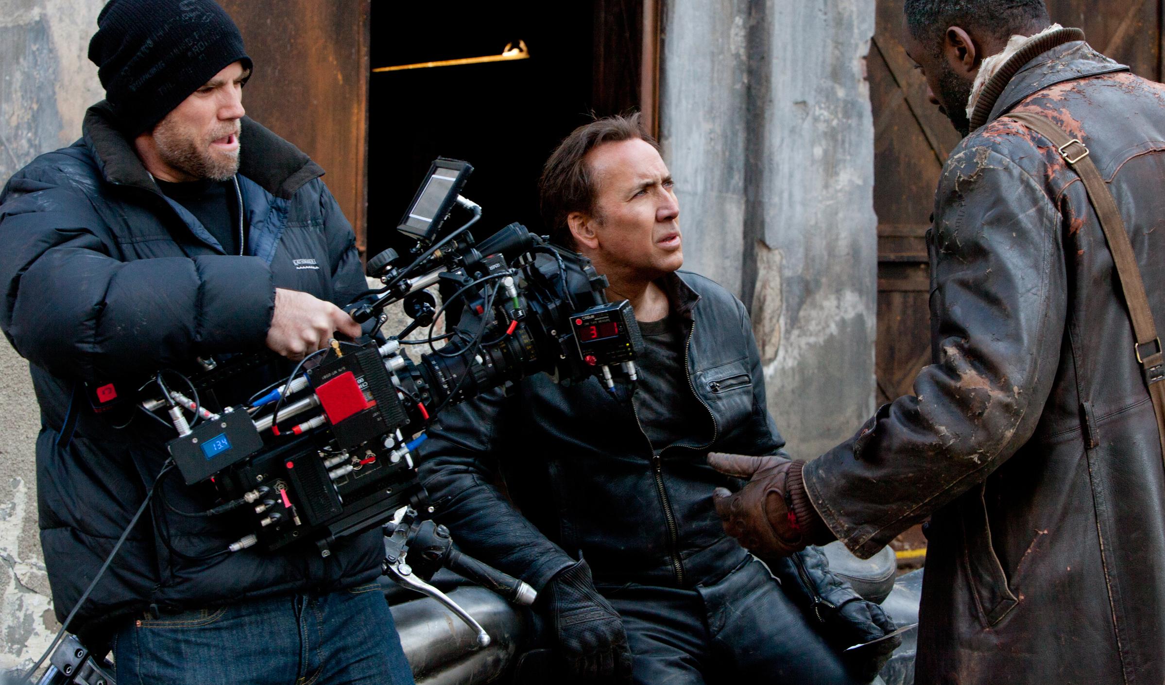 Brian Taylor, Nicolas Cage and Idris Elba in Ghost Rider: Spirit of Vengeance (2011)