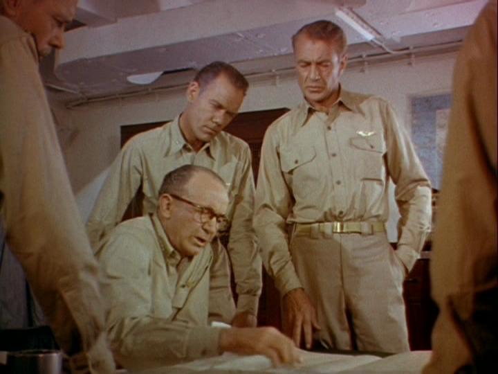 Gary Cooper, Walter Brennan, and John Ridgely in Task Force (1949)