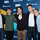 Col Needham, Keir Gilchrist, Joey Klein, Imogen Poots, and Alex Wolff at an event for Castle in the Ground (2019)