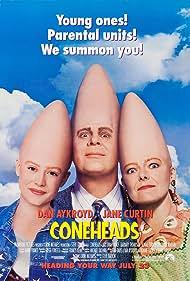 Dan Aykroyd, Jane Curtin, and Michelle Burke in Coneheads (1993)