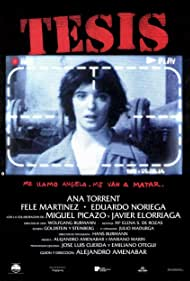 Alejandro Amenábar, Fele Martínez, Eduardo Noriega, and Ana Torrent in Tesis (1996)