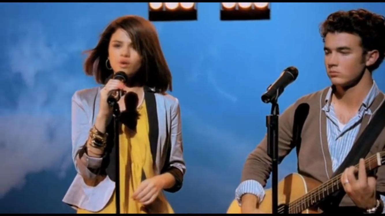 Selena Gomez and Kevin Jonas in Disney's Friends for Change: Send It On (2009)