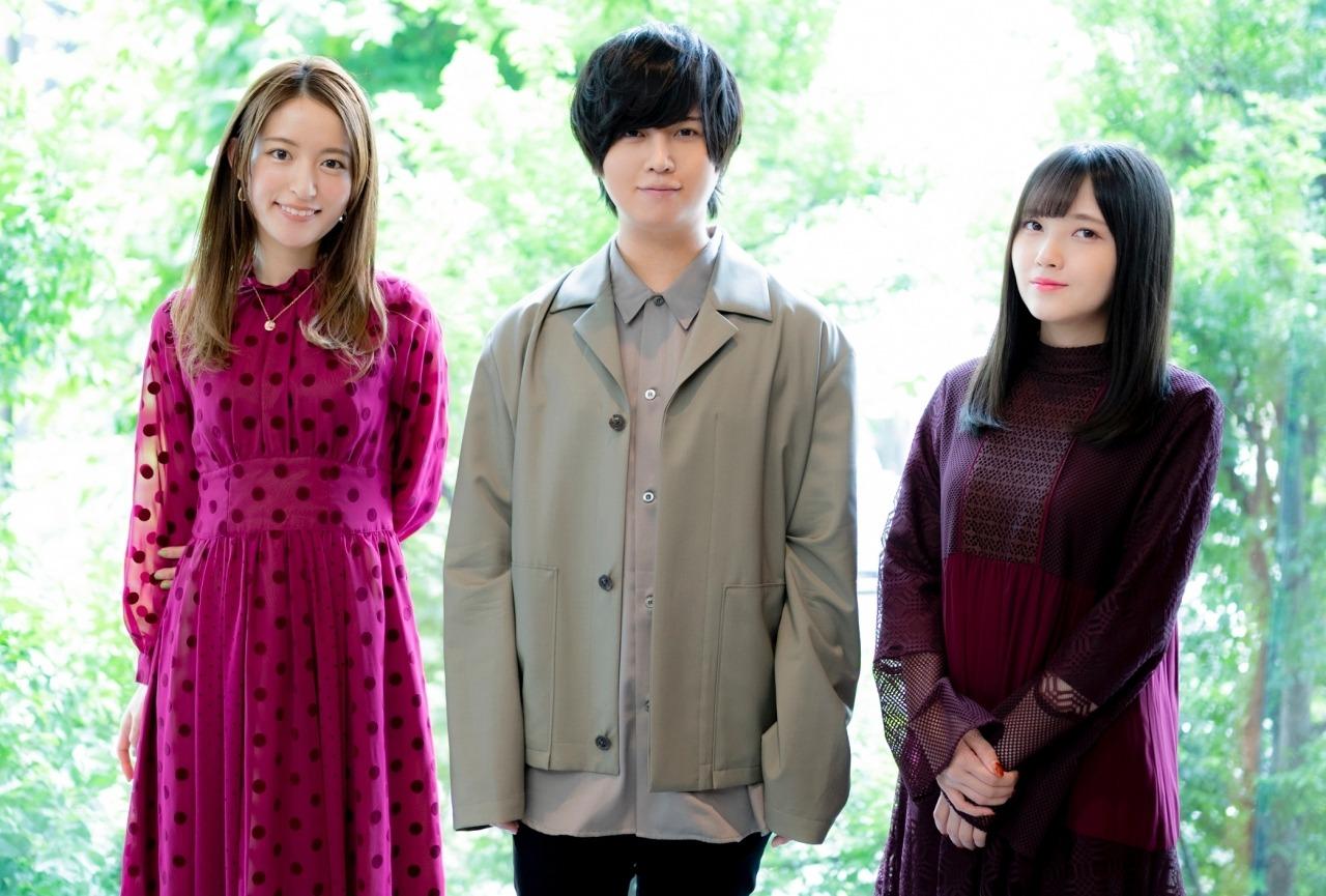 Mikako Komatsu, Sôma Saitô, and Akari Kitô at an event for Ex-Arm (2021)