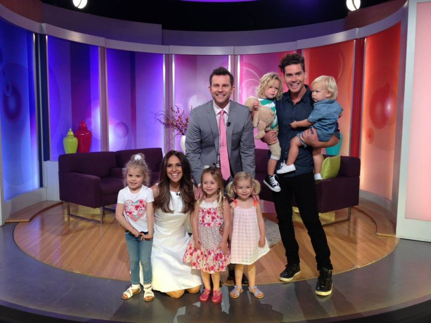 Jeanswest Jnr mini catwalk models on the set of Mornings (Today Extra)