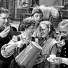 Henny Lindorff Buckhøj, Louis Miehe-Renard, Karin Nellemose, Henry Nielsen, and Ib Schønberg in Den gamle mølle paa Mols (1953)