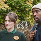Charlotte Ritchie and Kiell Smith-Bynoe in Ghosts (2019)