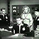 Scotty Beckett, Richard Crane, Robert Lyden, and Sally Mansfield in Rocky Jones, Space Ranger (1954)