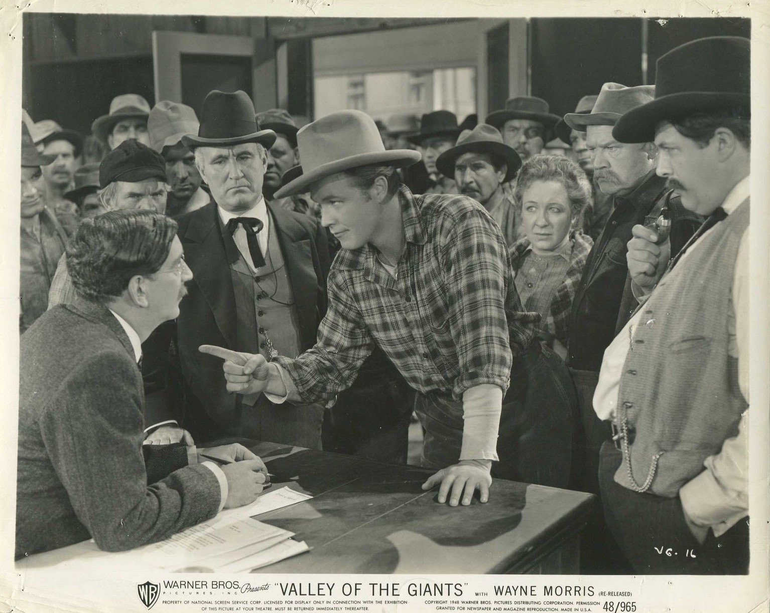 Donald Crisp, Cy Kendall, Helen MacKellar, Wayne Morris, and Tom Wilson in Valley of the Giants (1938)