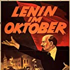 Nikolai Okhlopkov, Mikhail Romm, and Boris Shchukin in Lenin v oktyabre (1937)