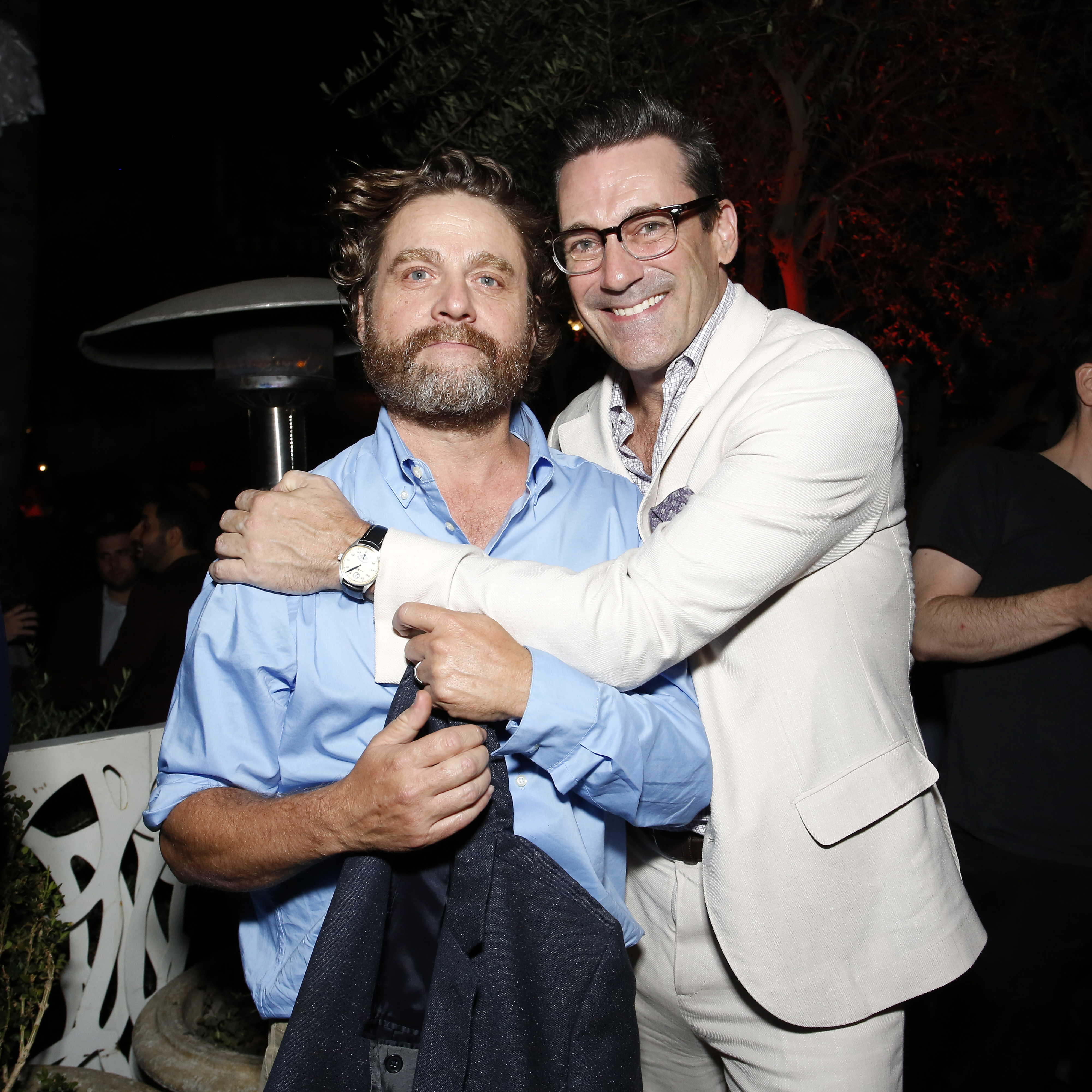 Zach Galifianakis and Jon Hamm at an event for Between Two Ferns: The Movie (2019)